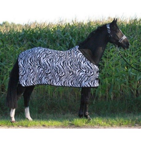 Zebra fleece rug